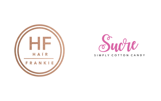 Hair Frankie and Sucre Cotton Candy logos by JS Design