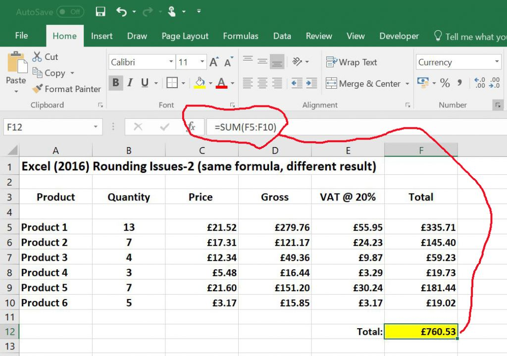 Excel Eccentricities - excel speadsheet example 3