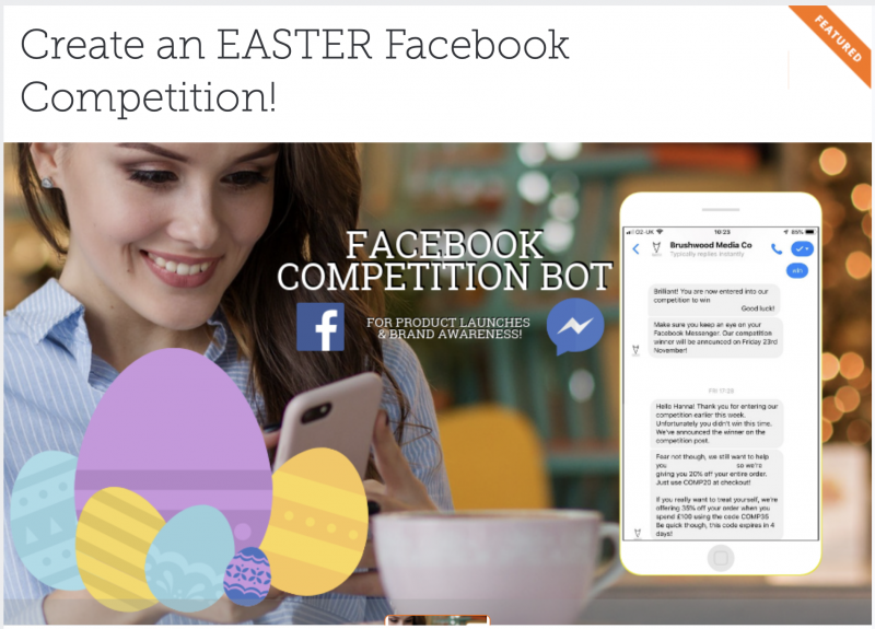 A facebook contest designed by a facebook expert