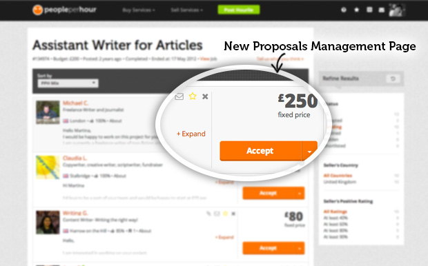 New Proposal Management Page