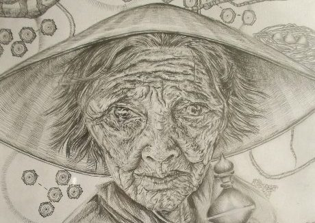 """""""A lifetime spent creating new nests"""" Graphite on paper"""