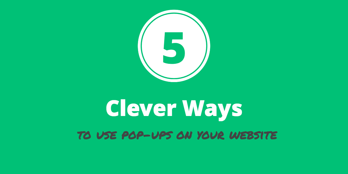 pop-ups on your website