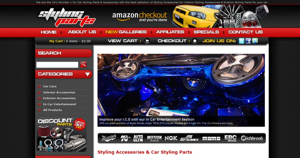 Liam designed and developed this website for a large provider of car tuning parts.