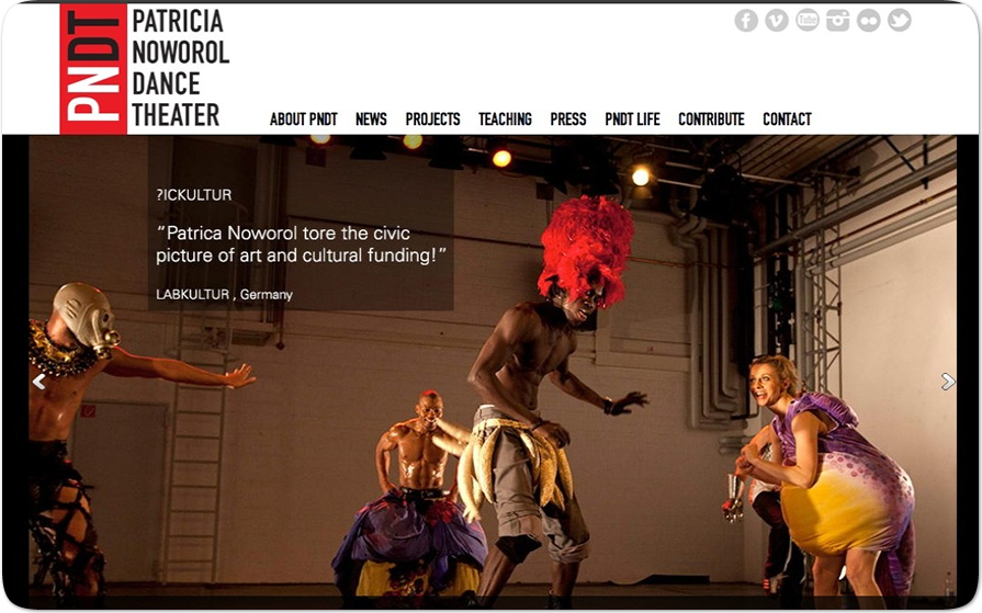 WordPress website for one of the most creative dance theatre's designed by Pavel