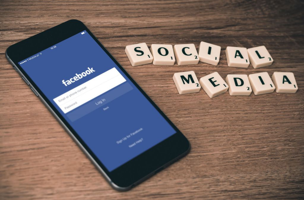 the importance of social media - facebook on a smartphone