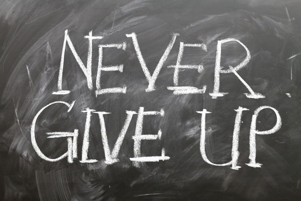 Never Give Up - make it to the top of the freelancing scales